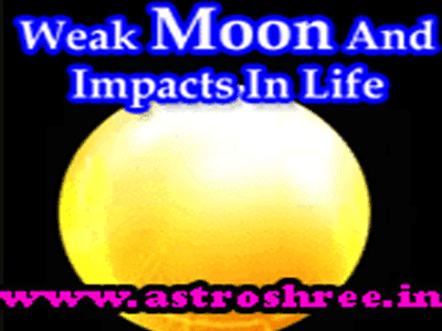 solution of weak moon in astrology
