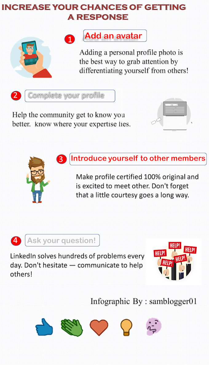 How to Improve Your Chances Of Getting A Response On LinkedIn - [Infographic]
