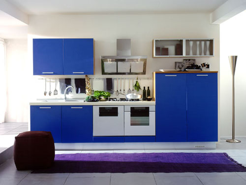 Cabinets For Kitchen Pictures Contemporary Blue Kitchen