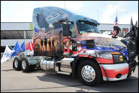 Mack Anthem Ride for Freedom themed truck
