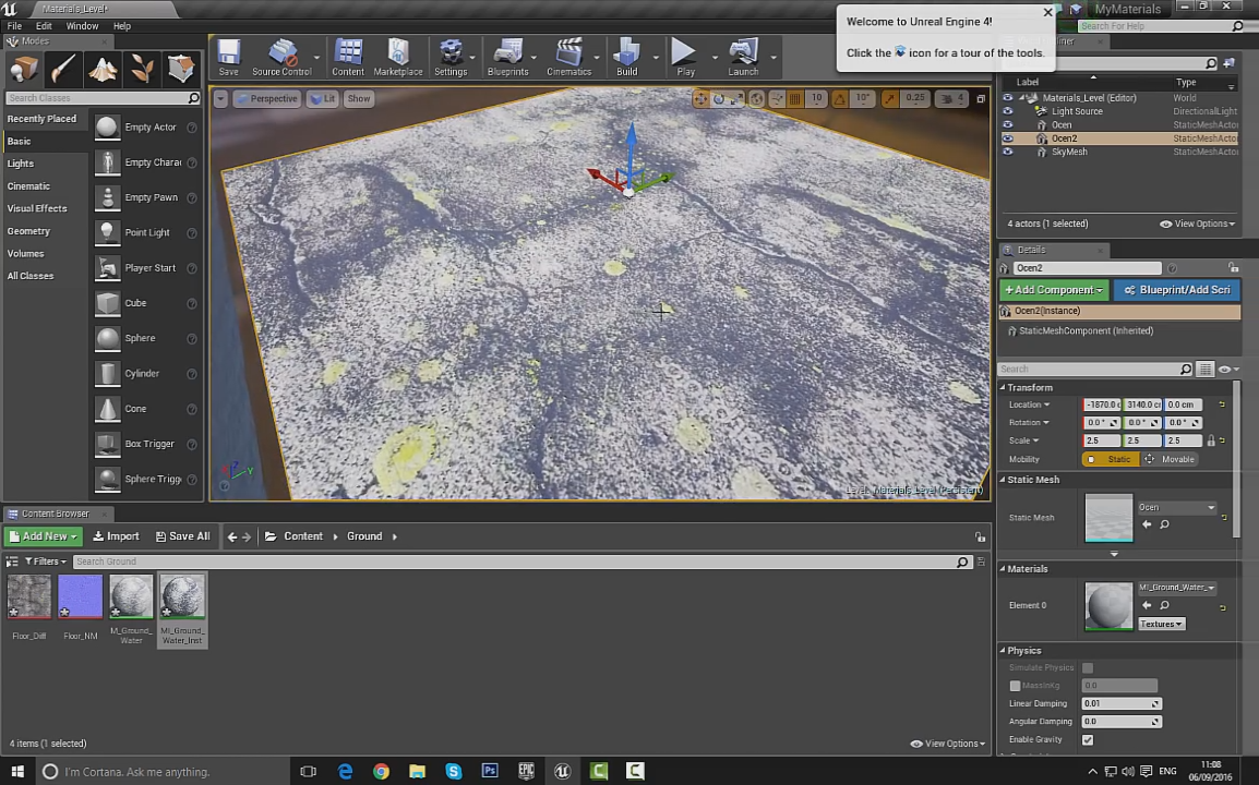 Creating Snow or Water Material in Unreal Engine | CG TUTORIAL