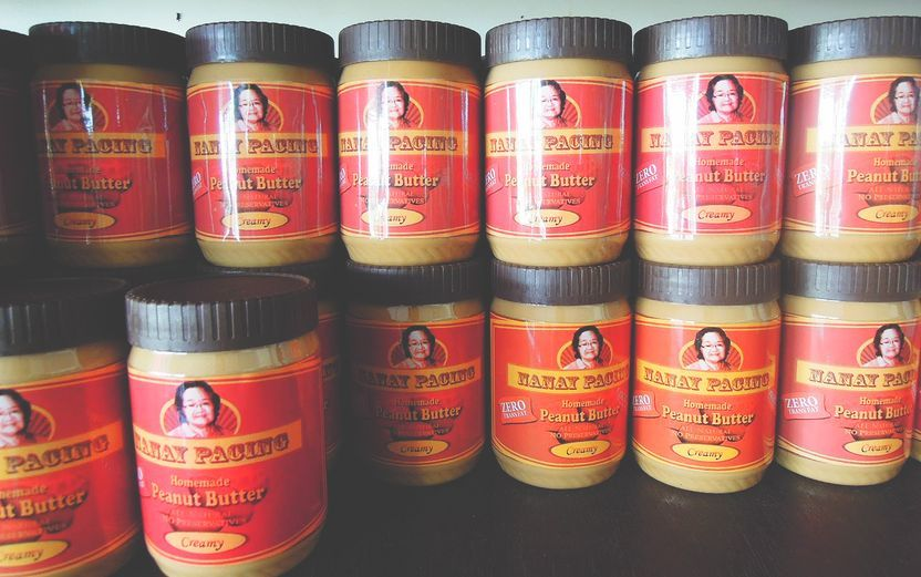 Pasalubong peanut butter from Nanay Pacing in Baler