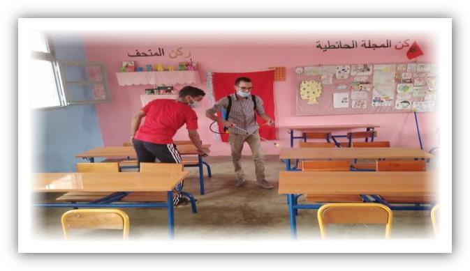حملة تعقيم بجماعة أوزيوة من طرف جمعية اسونفو وافولكي