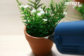 Easy Easter Craft Ideas for Kids - DIY Curious Bunny Pots - Attach Your Pom Poms