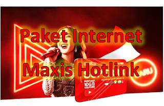 Paket Internet Maxis Hotlink Malaysia