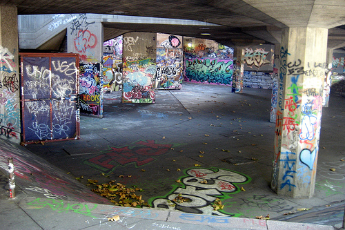 UK - London - South Bank: Skate Pit under Queen Elizabeth Hall by wallyg