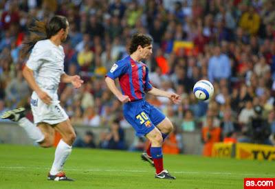هدف ميسي ضد الباسيتي 2005