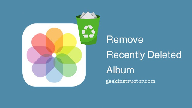 Disable Recently Deleted album on iPhone's Photos app