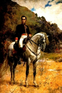 Retrato Ecuestre de Bolívar Arturo Michelena