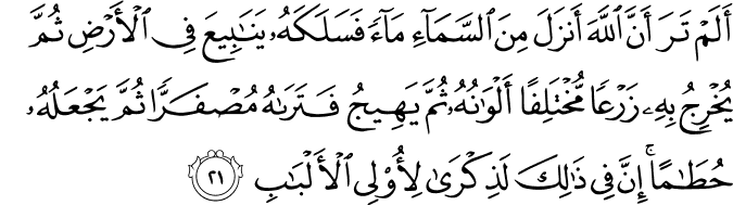 Surat Az-Zumar ayat 21