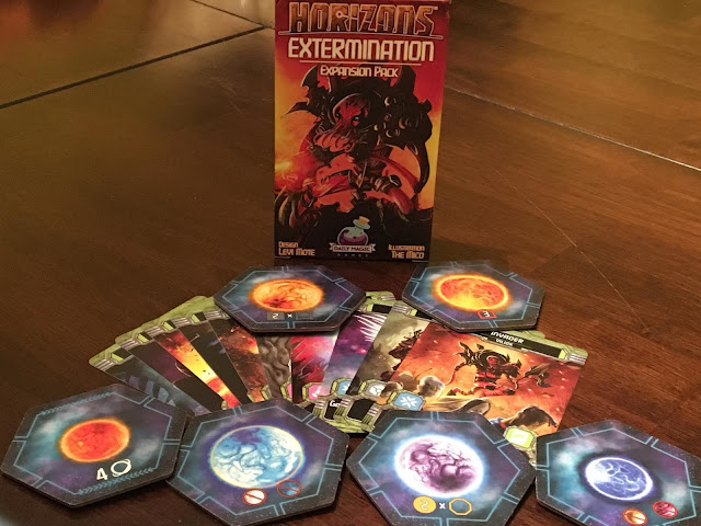 Extermination expansion pack for Horizons board game by Daily Magic Games; photo by Benjamin Kocher