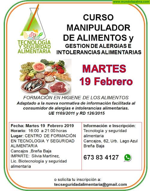 Curso manipulador de alimentos y gestión de alergias e intolerancias alimentarias