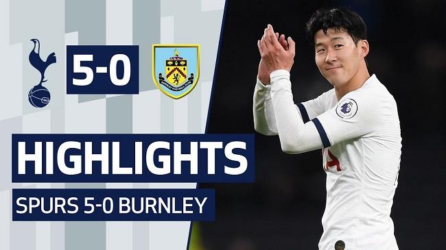 cuplikan gol tottenham vs burnley 5-0