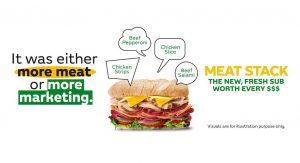 Buat Meat Stack Anda Sendiri dan menangi Baucar Subway Bernilai RM500