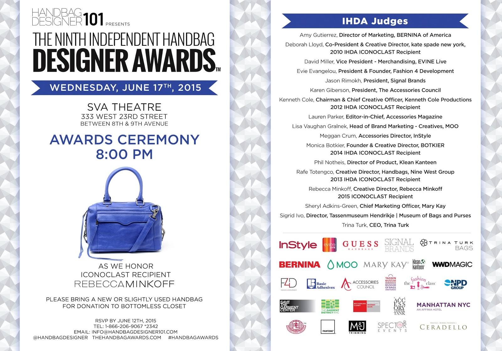 Latest In Innovative Handbag Styles Get Yourself To The 9th Annual Independent Designer Awards On Wednesday June 17th At 8pm Sva Theatre