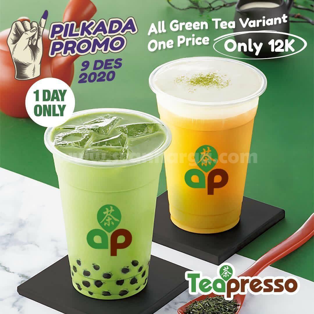 Promo Teapresso Pilkada - All green tea variant hanya 12 ribu!!