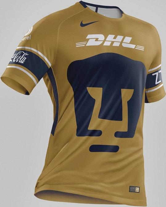 Nike divulga a nova terceira camisa do Pumas do México - Show de Camisas 37e8591b8658c