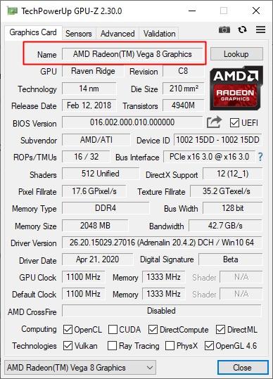 GPU-Z Cek VGA