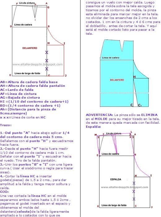 6070eed4a MANITAS CREATIVAS Y ALGO MAS: La Falda Pantalón