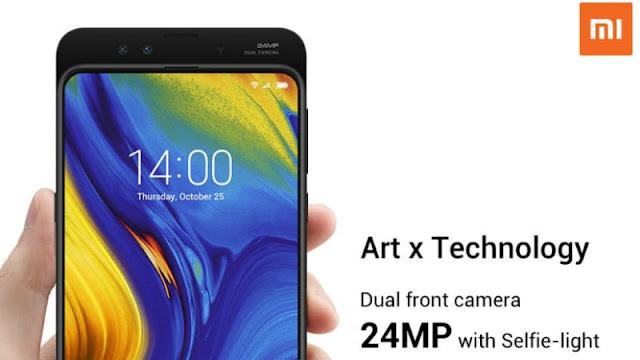 Xiaomi Mi Mix 3 will have 24 megapixel two selfie cameras