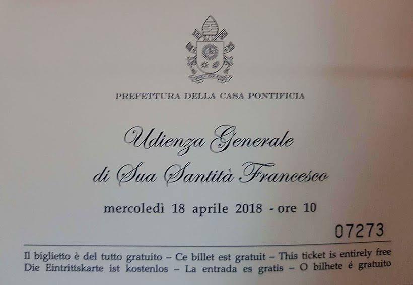Convite para audiência papal - Diário de Bordo: 3 dias em Roma