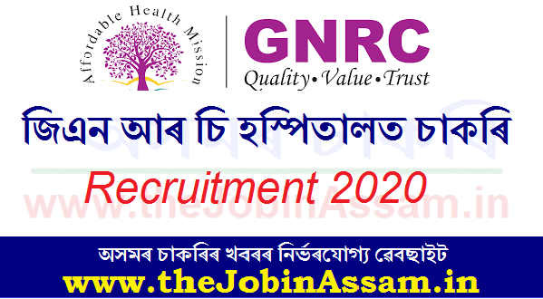 GNRC Hospital Recruitment 2020