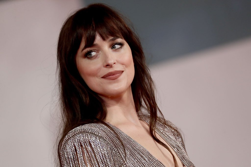 """Dakota Johnson attends the red carpet for """"The Lost Daughter"""" during the 78th Venice International Film Festival on September 3, 2021 in Venice, Italy."""