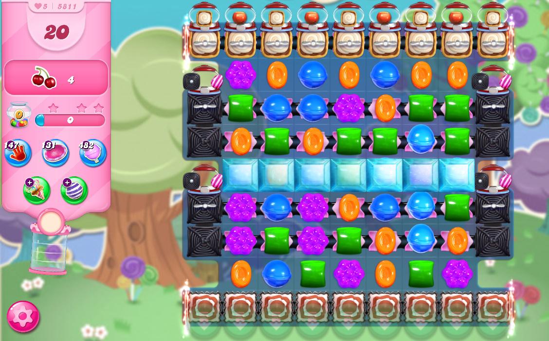 Candy Crush Saga level 5811
