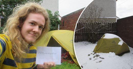 Vivió 10 meses en casa de acampar. No podía pagar su renta