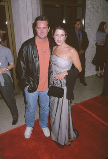 Matthew Perry With Ex Girlfriend Neve Campbell