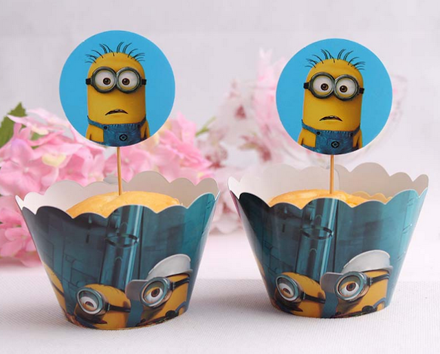 despicable me birthday cake toppers