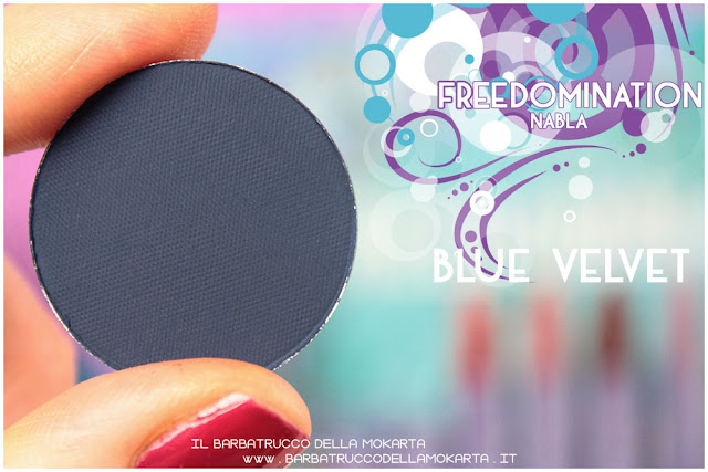 blue velvet review  nabla cosmetics freedomination collection summer eyeshadow