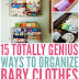 TOTALLY GENIUS WAYS TO ORGANIZE BABY CLOTHES