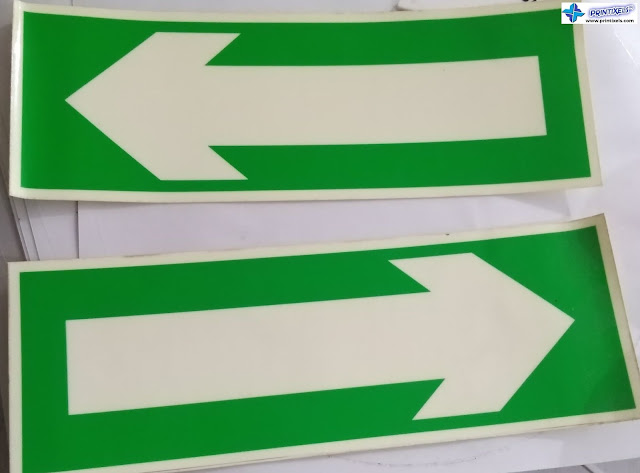 Glow in the Dark Exit Arrow Signs