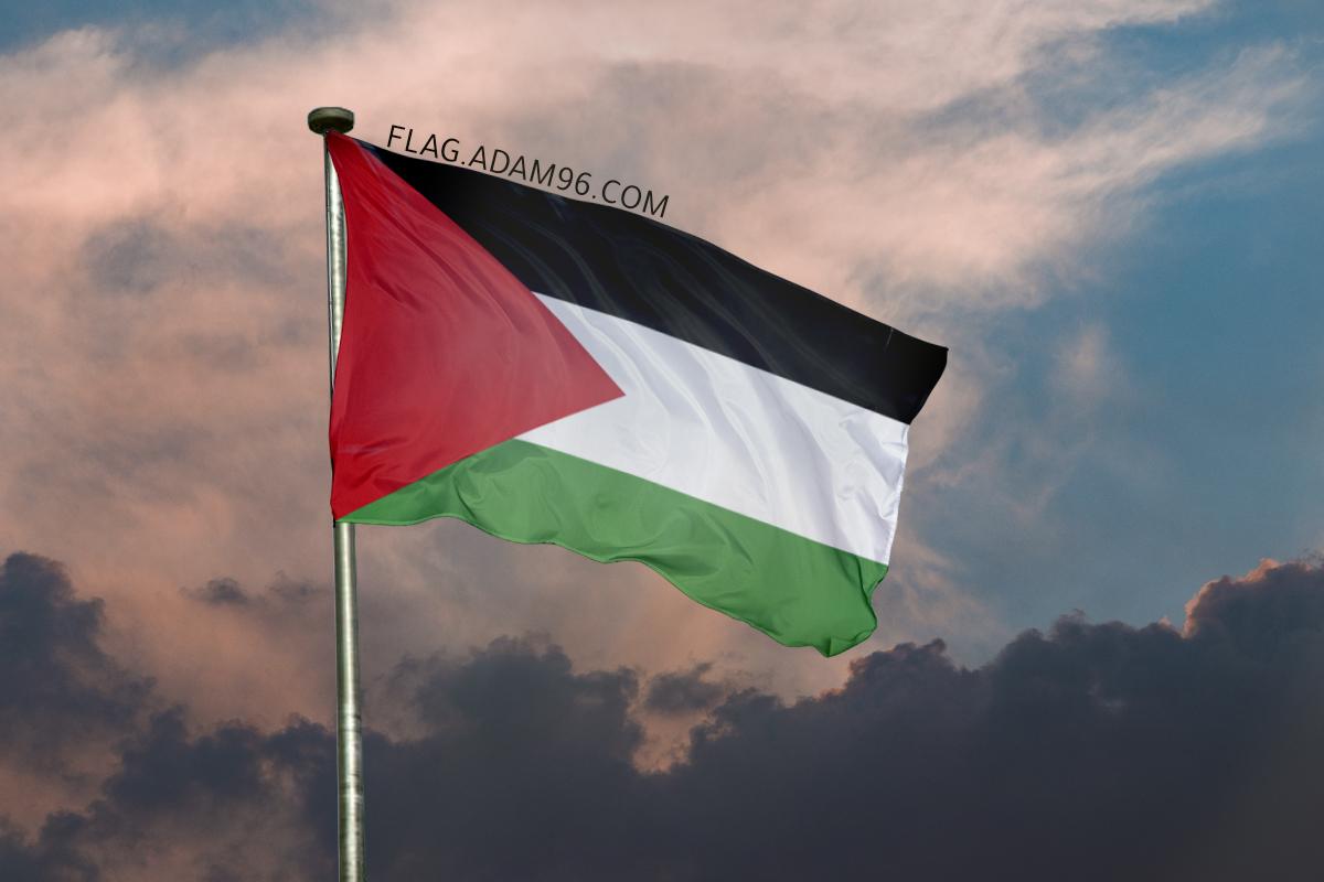 اجمل خلفية علم فلسطين يرفرف في السماء خلفيات علم فلسطين 2021