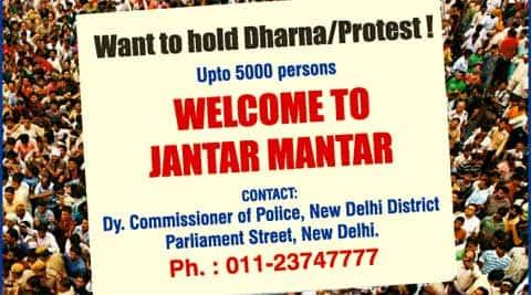 Delhi Dharna Place Jantar Mantar