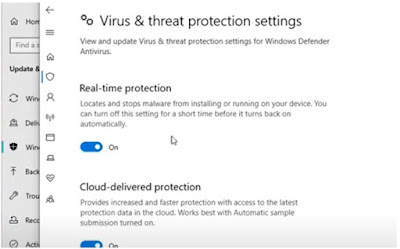 cara mengaktifkan antivirus bawaan windows 10 defender