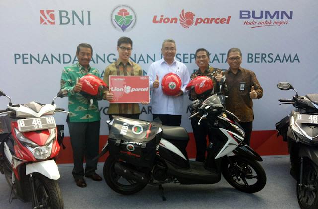 Lion Parcel Gandeng BNI Dan BRI Berdayakan BUMDes Menjadi Agen Pengiriman