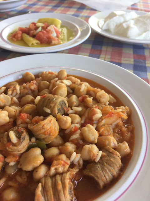 Intestines with chickpeas