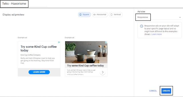 Membuat Iklan Display AdSense