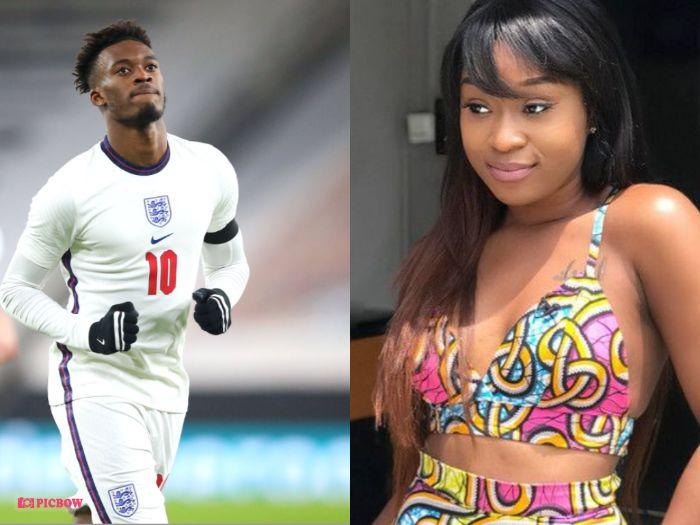 Efia Odo Allegedly Sacked By King Promise Gate Man Whiles Waiting For Callum Hudson Odoi (Social media)