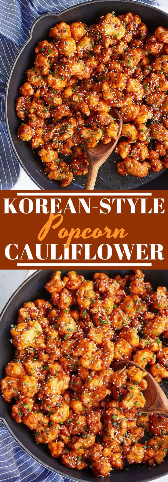 Korean-Style Popcorn Cauliflower #vegetarian #recipes #appetizers #cauliflower #meatless