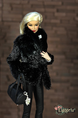 Fashion Royalty Doll Kyori Sato Fame Fable in Elenpriv Fur Jacket Integrity toys Elena Peredreeva Jason Wu FR2 FR:16 pattern handmade куклы выкройка одежда своими руками