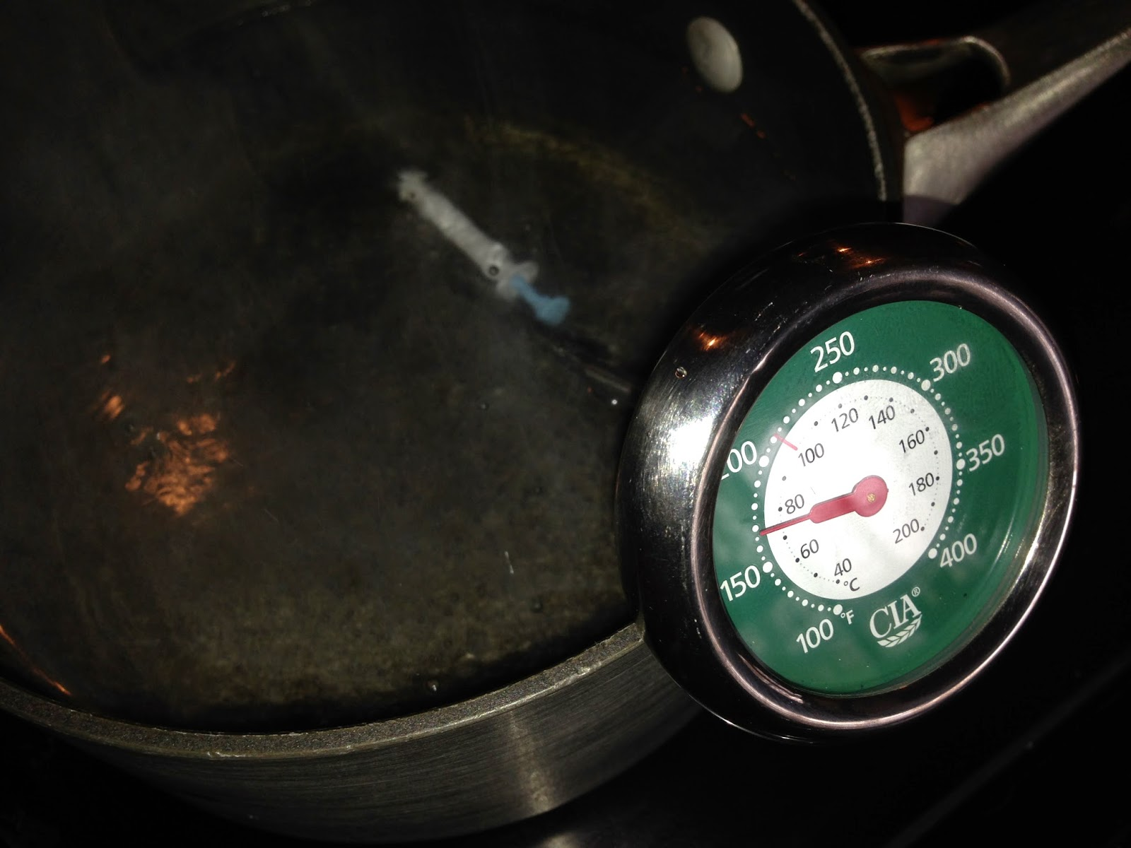 Our turkey timer has activated and our water is fully pasteurized!