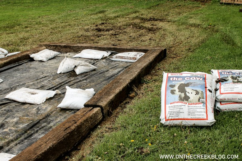 Raised Garden Bed Using Railroad Ties | On The Creek Blog