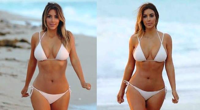 Kim Kardashian presume sus curvas en sexy bikini