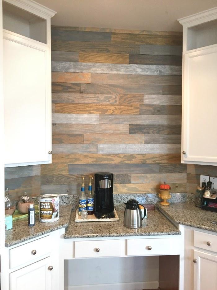 Wood Plank Kitchen Wall