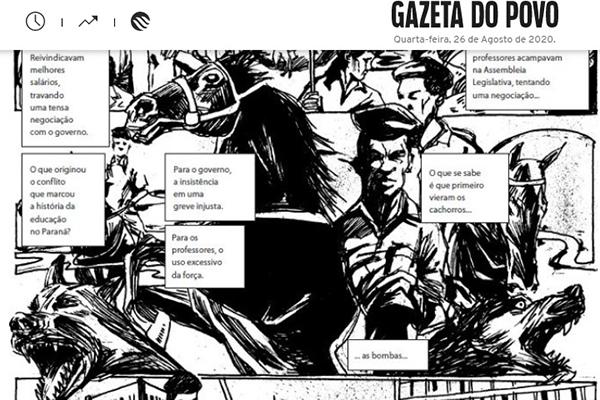 Matéria da Gazeta do Povo sobre o massacre dos professores em 1988. Café com Jornalista
