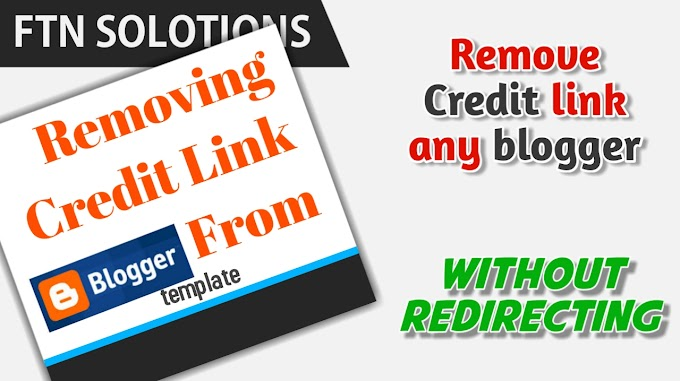 How to remove blogger footer credit without redirecting?