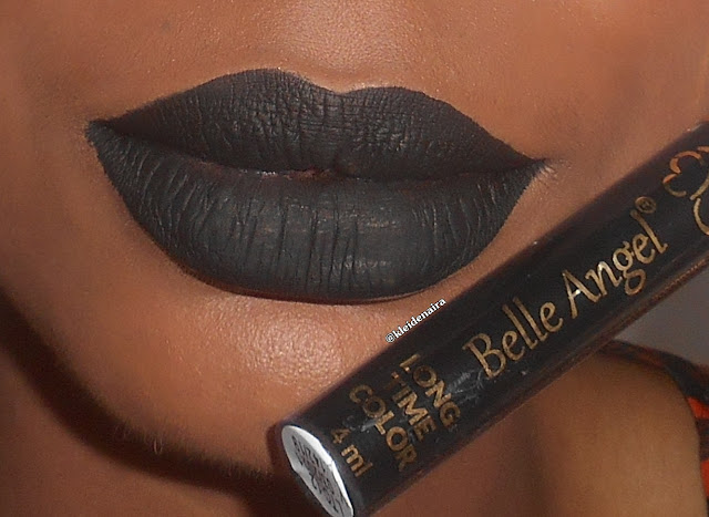 Batom Long Time Color da Belle Angel - Preto